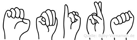 Emira im Fingeralphabet der Deutschen Gebärdensprache