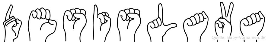 Desislava im Fingeralphabet der Deutschen Gebärdensprache