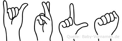 Yrla in Fingersprache für Gehörlose