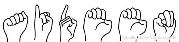 Aideen im Fingeralphabet der Deutschen Gebärdensprache