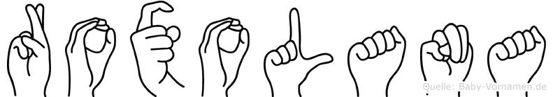 Roxolana in Fingersprache für Gehörlose
