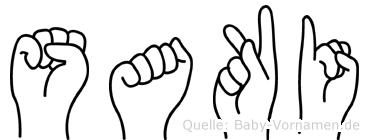Saki in Fingersprache für Gehörlose