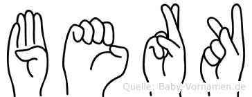 Berk in Fingersprache für Gehörlose