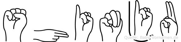 Shinju in Fingersprache für Gehörlose