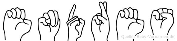 Endres in Fingersprache für Gehörlose