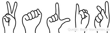 Valik im Fingeralphabet der Deutschen Gebärdensprache
