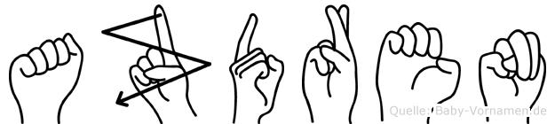 Azdren in Fingersprache für Gehörlose