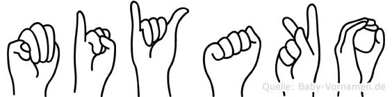 Miyako in Fingersprache für Gehörlose