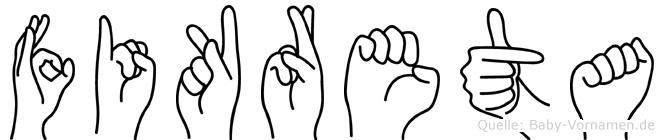 Fikreta in Fingersprache für Gehörlose
