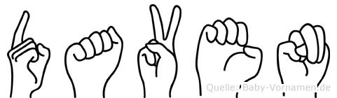 Daven im Fingeralphabet der Deutschen Gebärdensprache