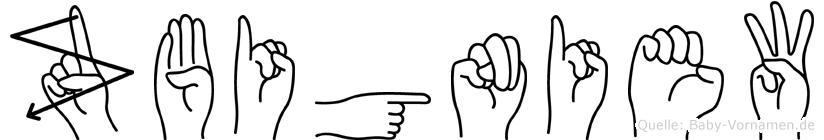 Zbigniew im Fingeralphabet der Deutschen Gebärdensprache