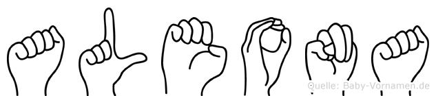 Aleona in Fingersprache für Gehörlose