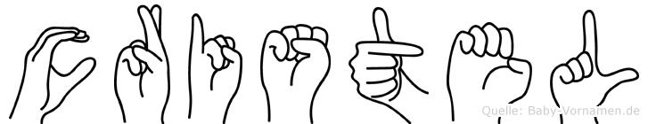Cristel im Fingeralphabet der Deutschen Gebärdensprache