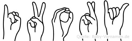 Ivory im Fingeralphabet der Deutschen Gebärdensprache