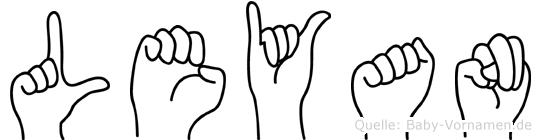 Leyan im Fingeralphabet der Deutschen Gebärdensprache