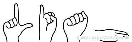 Liah im Fingeralphabet der Deutschen Gebärdensprache
