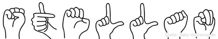 Stellan im Fingeralphabet der Deutschen Gebärdensprache