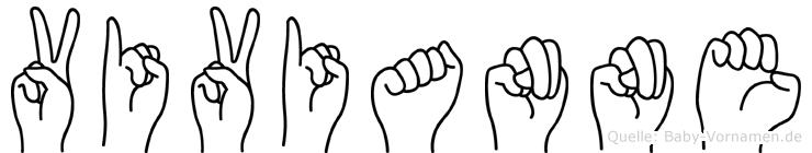 Vivianne in Fingersprache für Gehörlose