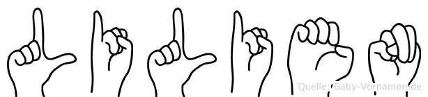 Lilien in Fingersprache für Gehörlose