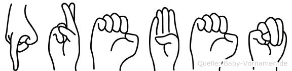Preben im Fingeralphabet der Deutschen Gebärdensprache