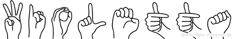 Wioletta im Fingeralphabet der Deutschen Gebärdensprache