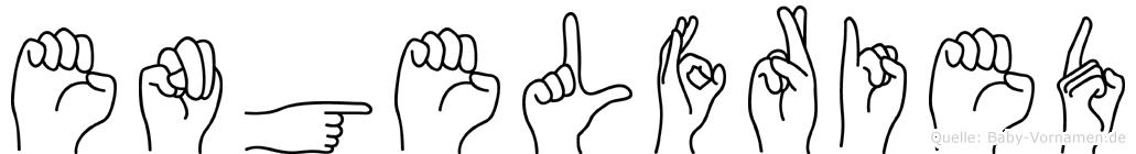 Engelfried in Fingersprache für Gehörlose