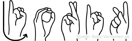 Jorik in Fingersprache für Gehörlose
