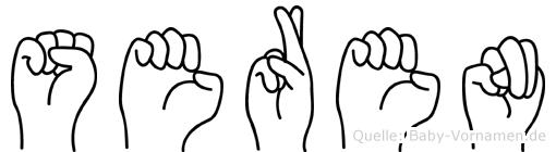 Seren im Fingeralphabet der Deutschen Gebärdensprache