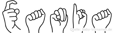 Xania im Fingeralphabet der Deutschen Gebärdensprache