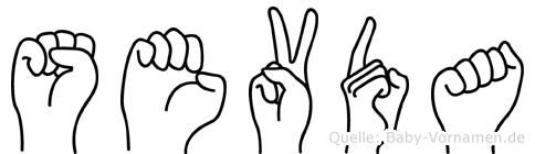 Sevda in Fingersprache für Gehörlose