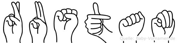 Rustam in Fingersprache für Gehörlose