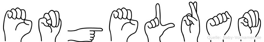 Engelram in Fingersprache für Gehörlose
