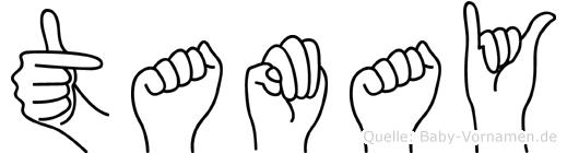 Tamay im Fingeralphabet der Deutschen Gebärdensprache
