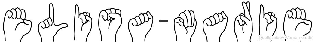Elisa-Marie im Fingeralphabet der Deutschen Gebärdensprache
