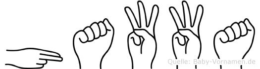 Hawwa in Fingersprache für Gehörlose