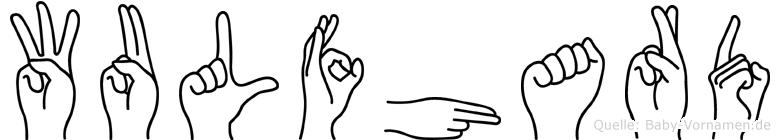 Wulfhard in Fingersprache für Gehörlose