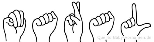 Maral in Fingersprache für Gehörlose