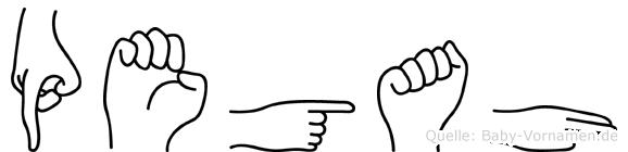 Pegah in Fingersprache für Gehörlose