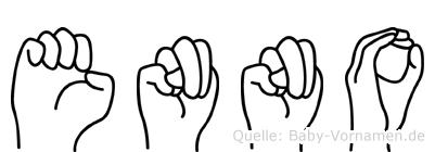 Enno im Fingeralphabet der Deutschen Gebärdensprache
