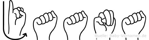 Jaana in Fingersprache für Gehörlose