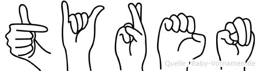 Tyren in Fingersprache für Gehörlose
