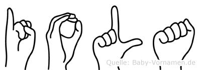 Iola in Fingersprache für Gehörlose