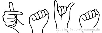 Taya in Fingersprache für Gehörlose