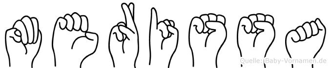 Merissa in Fingersprache für Gehörlose