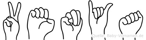 Venya im Fingeralphabet der Deutschen Gebärdensprache