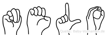 Nelo in Fingersprache für Gehörlose