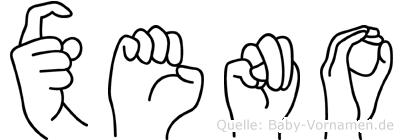 Xeno in Fingersprache für Gehörlose
