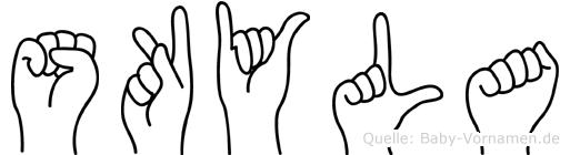 Skyla im Fingeralphabet der Deutschen Gebärdensprache