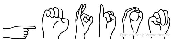 Gefion in Fingersprache für Gehörlose