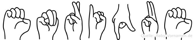 Enrique in Fingersprache für Gehörlose